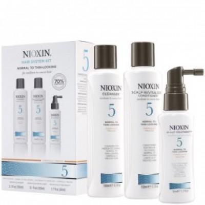 Nioxin - Pachet complet System 5 pentru parul normal, subtiat, spre aspru, cu aspect natural sau vopsit