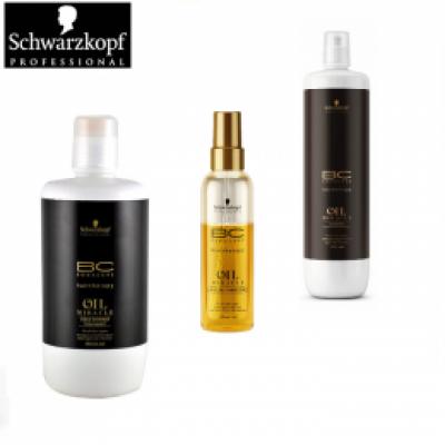 Pachet Schwarzkopf Oil Miracle - Sampon, Balsam Leave - In si Masca