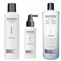Nioxin - Pachet Maxi System 1 pentru par fin, normal cu tendinta de rarefiere