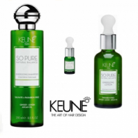 Pachet Keune So Pure Energizing - Sampon, Ulei Esential si Lotiune Leave - In