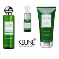 Pachet Keune So Pure Exfoliating - Sampon, Tratament Intensiv si Ulei Esential