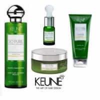 Pachet Keune So Pure Moisturizing - Sampon, Tratament Intensiv, Tratament pentru Noapte si Ulei Esential